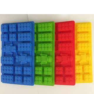 Silicone Lego Brick Ice/Jelly/Chocolate Mould (Free Postage)