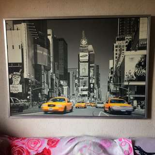 New York Time Square Wall Picture From Ikea