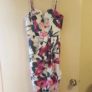 Floral Medium Length Dress Size 12