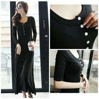 Long Dress Black Savina(vv)