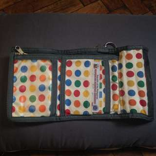 Tri-fold Polka Dots Wallet