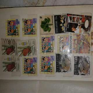 Used Singapore Malysia Stamps