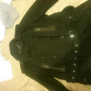Men's Michael Kors Wool Melton Admiral Jacket Black (XL)
