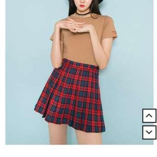Pleated Tartan Tennis Skirt