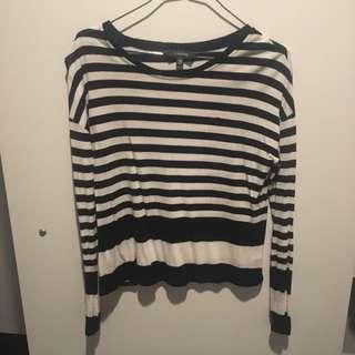 Stripy Long Sleeve Top