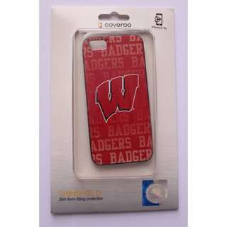 Authentic Badgers Hockey Case Coveroo iPhone 5 5s SE