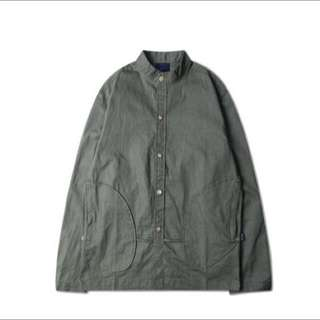 復古無領夾克