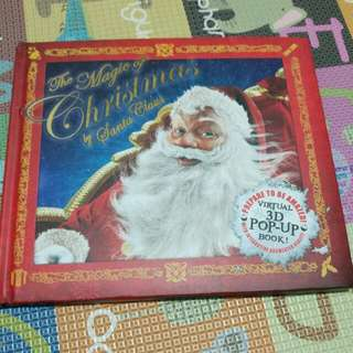 Virtual 3D Pop Up Book. The Magic Of Christmas By Santa Claus.