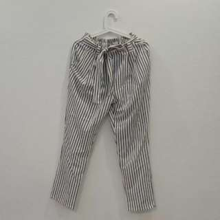 Blue Striped Harem Pants REDUCED