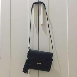 Avenue Black Tassel Sling Bag