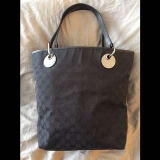 Authentic GUCCI In Black Classic Monogram Tote Bag