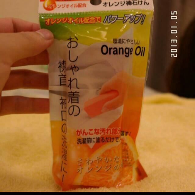 來看看,橘子日本洗衣皂(強力衣領袖口去污皂)