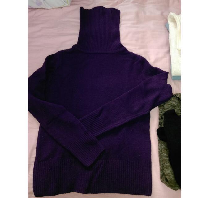 (🎉含運)紫色高領毛衣