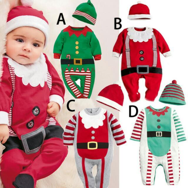 現貨 聖誕連身衣+帽子