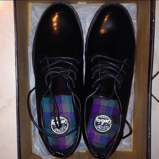 黑色 圓頭 牛津鞋