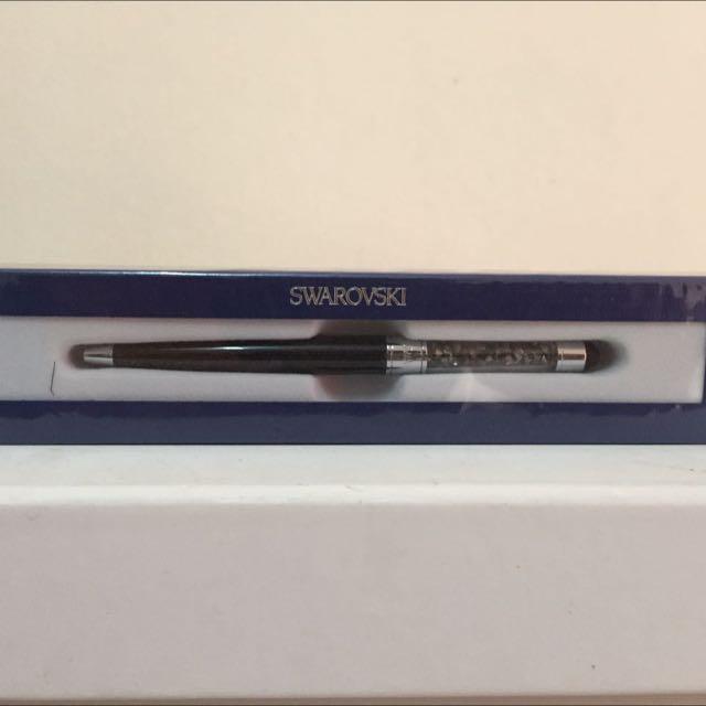 🆕 Swarovski Stylus Pen In Silver Night