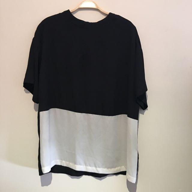 ASOS Black And White Top Size U.K. 8