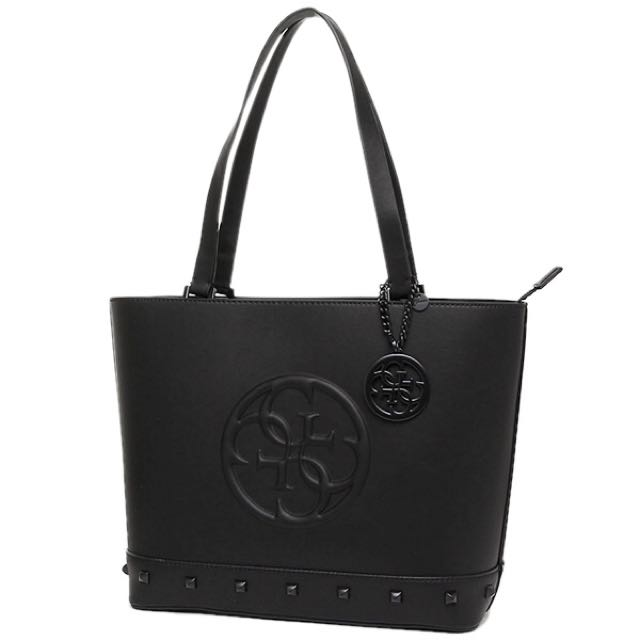 Authentic GUESS BLACK KORRY SHOPPER tote