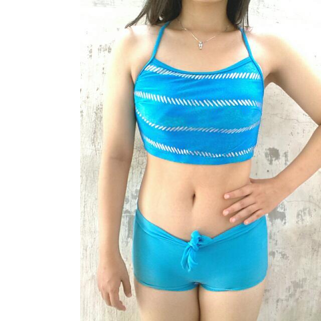 Baju Renang Atas Bawah Biru