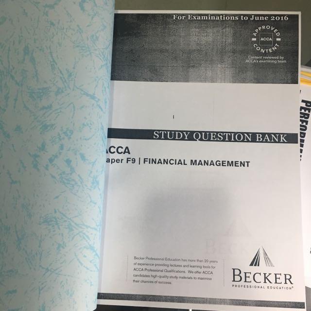 Becker F9 Study Question Bank