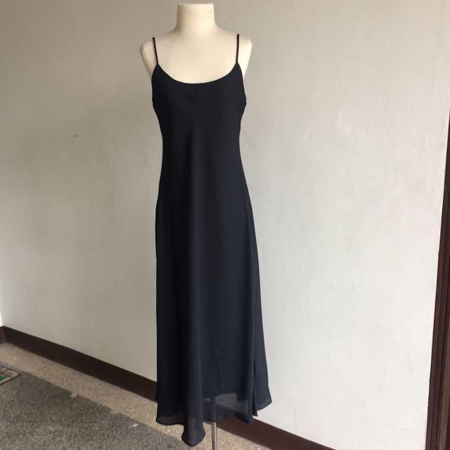 Black Chiffon Long Dress