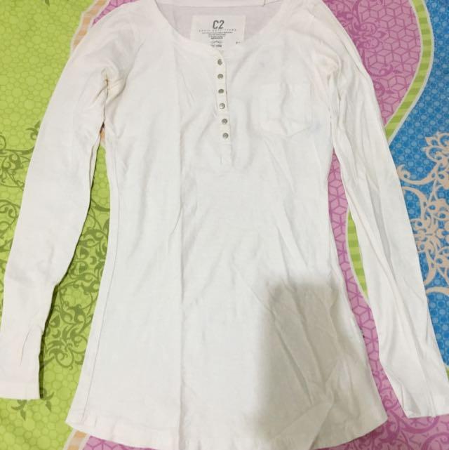 Blouse / Kaos Lengan Panjang / White Blouse / White Top