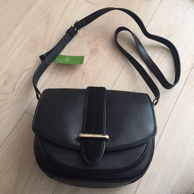 BNWT Kate Spade Black Leather Crossbody