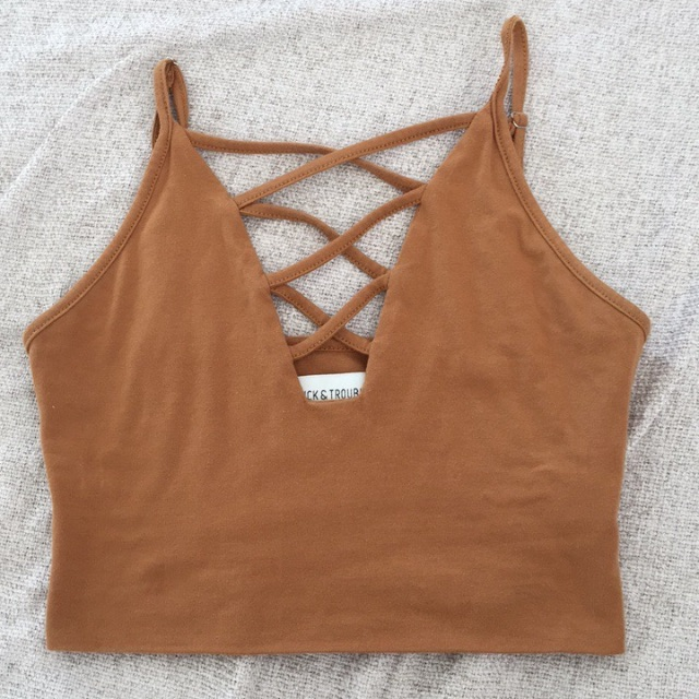 Camel 'Luck & Trouble' Universal Store Crop Top