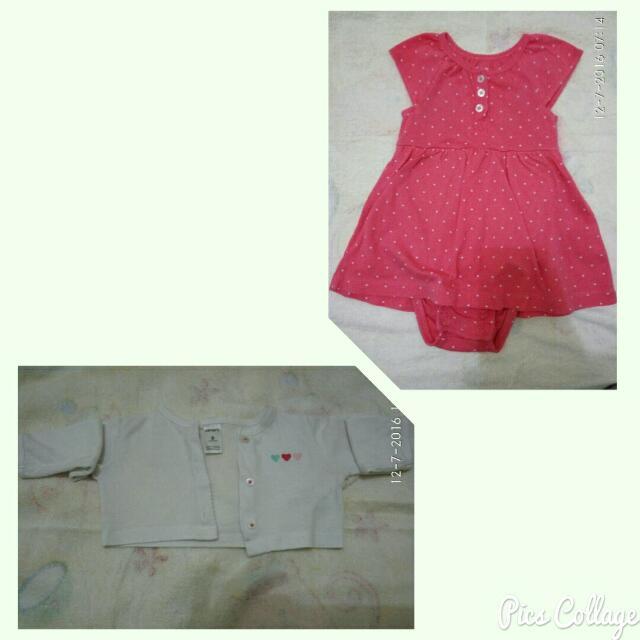 Carter's Bodysuit Dress Set For Baby Girl