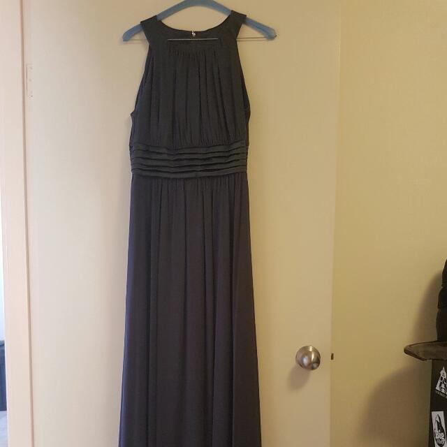 Charcoal Long Formal Dress Size 12