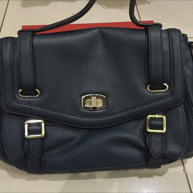 Charles And Keith Bluish City Bag