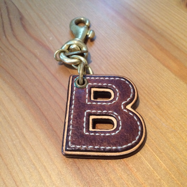 Coach Letter B Keychain