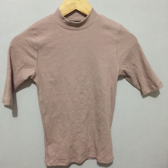 cotton on old rose turtle neck top