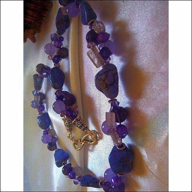 designer artiste fantasia multigemstone necklace