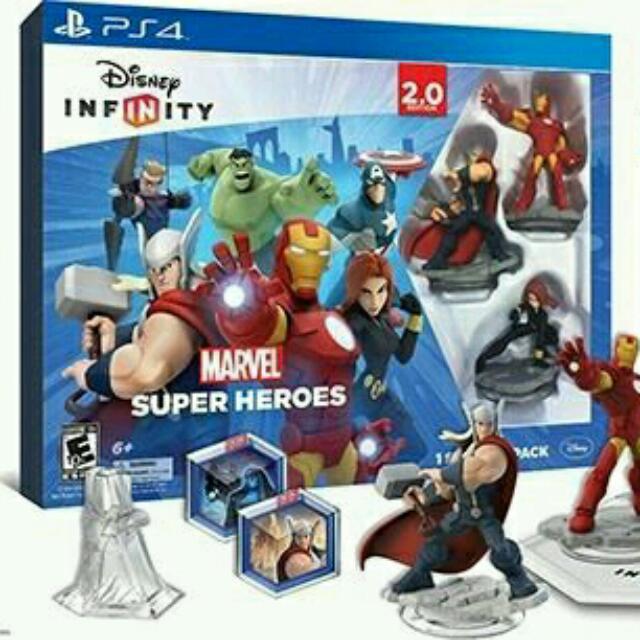 Disney infinity 2.0 for PS4 + 2 packs Play n store