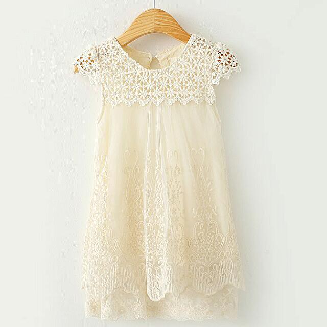 WAS $27, PRICE REDUCED TO $15 DUE TO STOCK CLEARANCE. Floral Voile Lace Dress