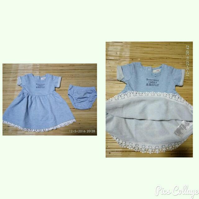 Fox Blue Dress Set