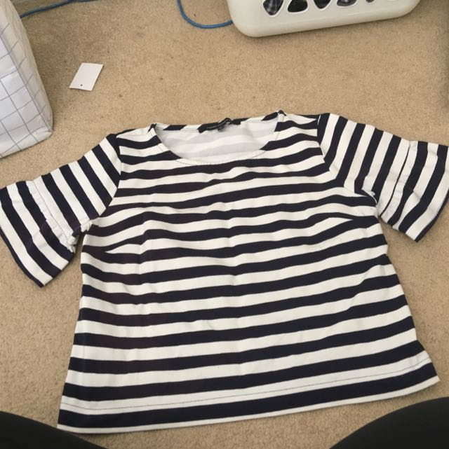French Connection Sailor Top Size 8