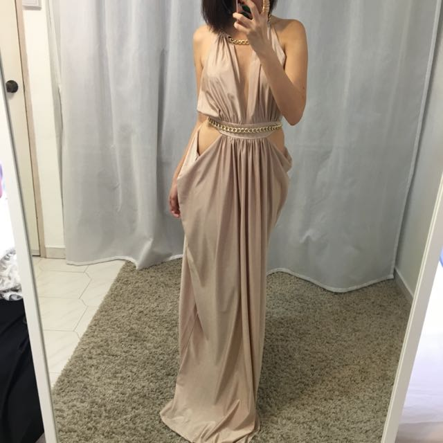 Champagne Backless Dress