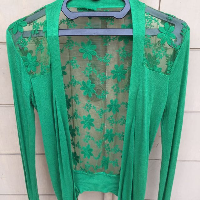 Green Sweater No Brand Size S