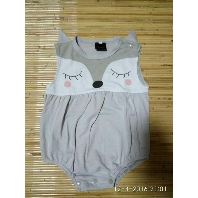 Grey Onesie Cutie Fox