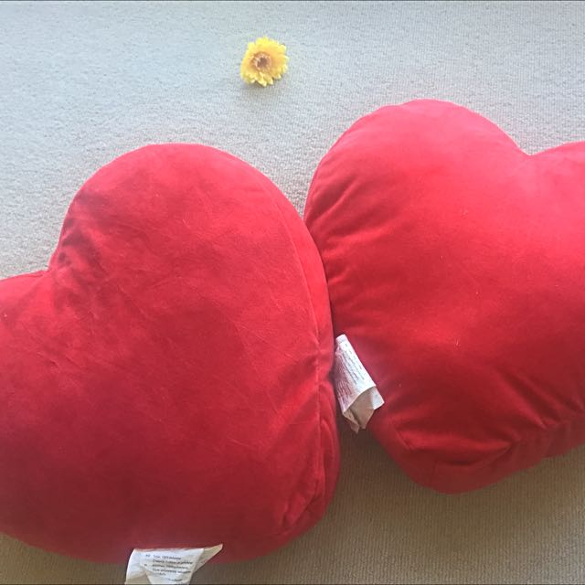 IKEA Heart Shape Cushions