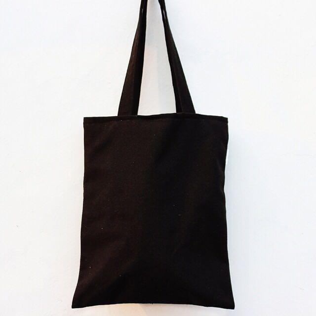 Instock  Plain Black Tote Bag 9b1eeb7ac24c