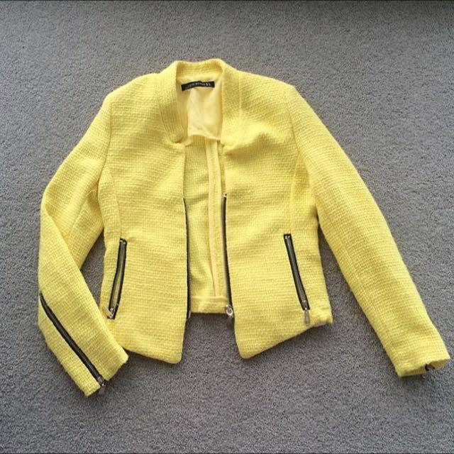 New Yellow Tweed Jaket