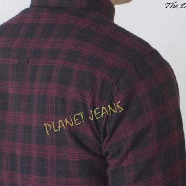 kemeja flanel cowok lengan panjang dan kemeja motif kotak bahan flannel slim fit pria - flev123, Olshop Fashion, Olshop Pria on Carousell