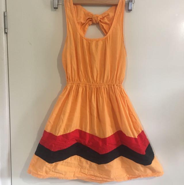 Ladies Size 8 Tangerine Dress