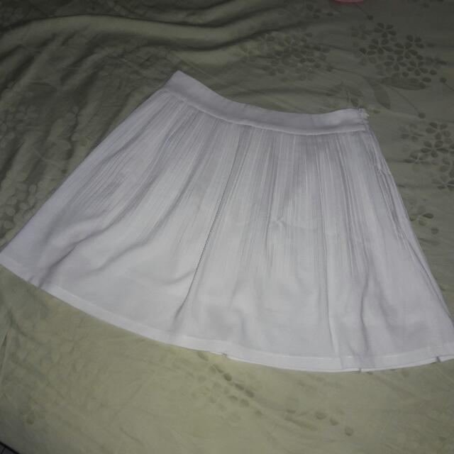 Leaf white skirt
