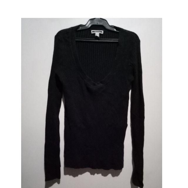 Mango Black Cotton Sweatshirt
