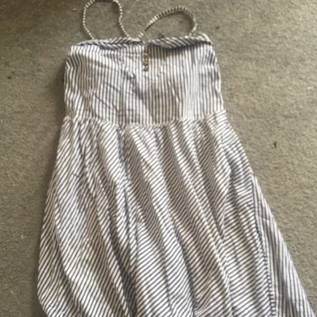 Minipink Blue And White Stripe Dress