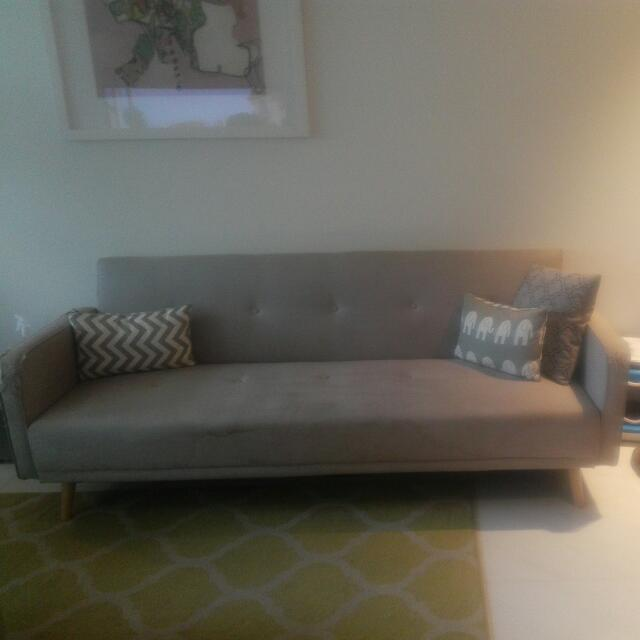 Modern Grey Couch Sofa - FREE